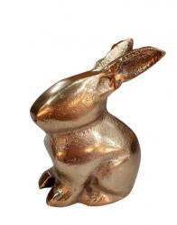 Dekorace bronzový králíček - 7*5*9cm