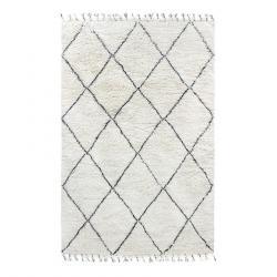 HKLIVING Černobílý koberec - 180*280 cm