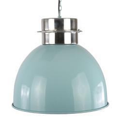 Collectione Modré závěsné kovové světlo Prato - Ø 30*30 cm