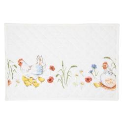 Textilní prostírání Easter and Spring  - 48*33 cm - sada 6ks
