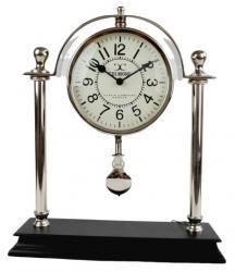 Stolní kovové hodiny s kyvadlem - 32*38cm