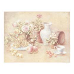 Clayre & Eef Obraz zátiší s květinami - 45*35*3 cm