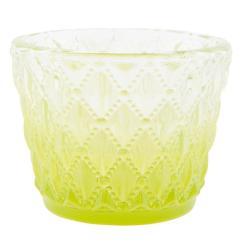 Clayre & Eef  Zelený svícen na čajovou svíčku - Ø 7*6 cm