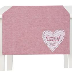 Běhoun na stůl My Lovely Home Red - 50*140 cm