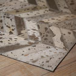 Collectione Kožený koberec Enrico z dílků - 170*240cm