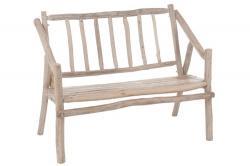 J-Line by Jolipa Dřevěná lavice s opěradlem Branches - 110*66*87cm