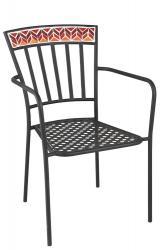 J-Line by Jolipa Kovová zahradní židle Square Mosaic Red - Ø53*57*85 cm