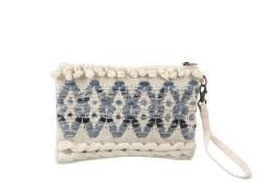 J-Line by Jolipa Modro-krémová kabelka do ruky Denim - 25*17cm