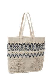 J-Line by Jolipa Modro-krémová kabelka - taška Denim - 40*40cm
