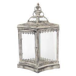 Kovová lucerna Antik silver I - 33*25*51 cm