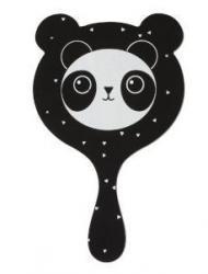 J-Line by Jolipa Černé zrcátko Panda - 11*1*20cm