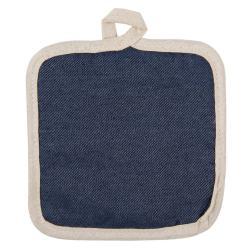 Podložka pod hrnec v tmavě modrém denim provedení - 16*16 cm