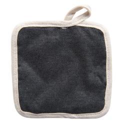 Bavlněná podložka pod hrnec v provedení šedého denimu - 16*16 cm