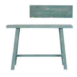 Modrý vintage odkládací stolek, stolička - 60*21*40 cm