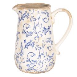 Retro džbán s modrými květy - 17*12*18 cm