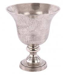 Kovová stříbrná váza Rosa Antique Silver - Ø 38 * 41 cm