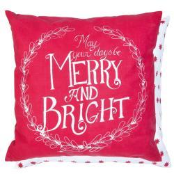 Červený povlak na polštář Merry Christmas - 50*50 cm