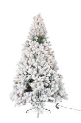 Vánoční zasněžený strom s led světýlky Snowy - 76*150cm