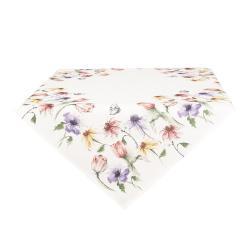 Ubrus s lučními květy - 85*85 cm