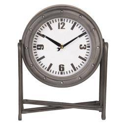 Stolní kovové hodiny v industriálním stylu - 28*12*36 cm