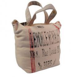 Růžová dveřní zarážka taška Paris - 15*10*20 cm