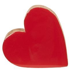 Dřevěné srdce červené - 19*18*2 cm