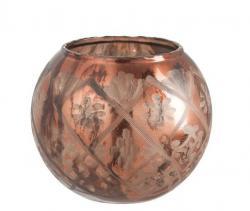 Bronzová skleněná baňatá váza Ball - Ø19*17cm