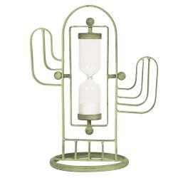 Dekorace přesýpací hodiny kaktus - 21*14*28 cm