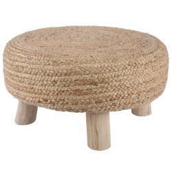 Jutová stolička Vita natural - Ø 60 * 30cm