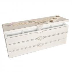 Dřevěná 3-patrová šperkovnice - 27*10*10cm