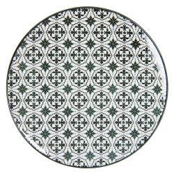 Černý jídelní talíř Blackor - Ø  26 cm