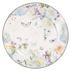 Porcelánový dezertní talíř Butterfly - Ø 19*2 cm