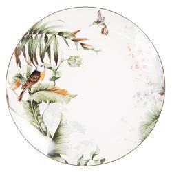 Jídelní talíř Tropical birds - Ø 26*2 cm