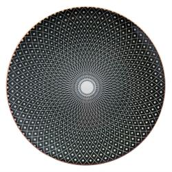Černý dezertní talíř Blackin - Ø 21 cm