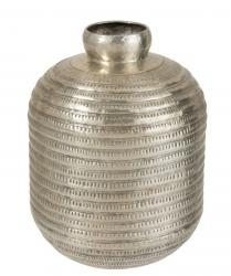 Stříbrná kovová váza - Ø12*45cm