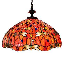 Závěsné světlo Tiffany Dragonfly - Ø 58 cm