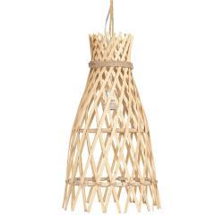 Dřevěné závěsné světlo Wodi - Ø 34*63 cm