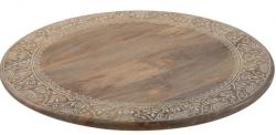 Veliký dřevěný točící tác/ podnos Amoro  - Ø 56*6 cm