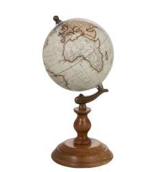 Dekorace glóbus na dřevěném podstavci  - Ø15*28cm