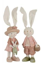 Dekorace králičí chlapec a dívka - 11*40cm