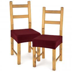 4Home Multielastický potah na sedák na židli Comfort bordó, 40 - 50 cm, sada 2 ks