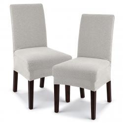 4Home Multielastický potah na židli Comfort smetanová, 40 - 50 cm, sada 2 ks