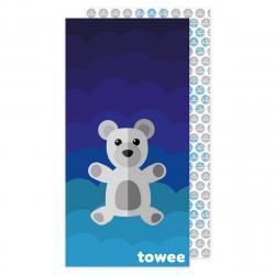 Towee Rychleschnoucí osuška Teddy Bear modrá, 70 x 140 cm