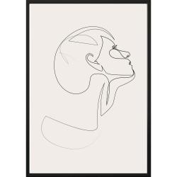 Nástěnný plakát v rámu SKETCHLINE/FACE, 50x70cm