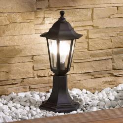 Lindby Svítidlo se soklem Nane ve tvaru lucerny, černé