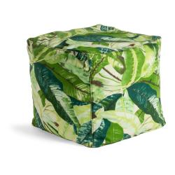 Zelený puf La Forma Tropical, 45 x 45 cm