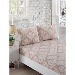 Set bílého elastického prostěradla a2povlaků na polštáře na jednolůžko Lillian, 160 x 200 cm
