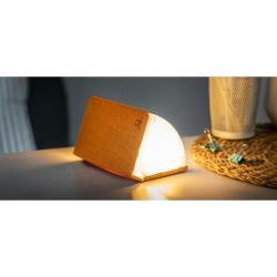 Oranžová malá LED stolní lampa ve tvaru knihy Gingko Booklight