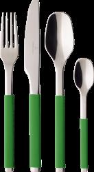 Villeroy & Boch S+ Green Apple sada příborů, 24 ks