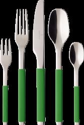 Villeroy & Boch S+ Green Apple sada příborů, 30 ks